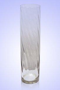 Ваза прозрачная Цилиндр риф. d80.h300 мм.
