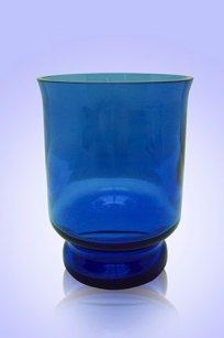 Сувенир синий Подсвечник № 3 d80.h100 мм