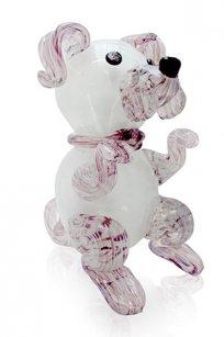 сувенир стеклокрошка Собака h150 мм. Б.М.