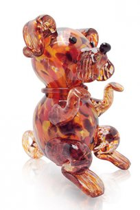сувенир стеклокрошка Собака h150 мм. Кр.М.