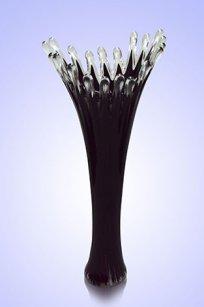 Ваза стеклокрошка Коралл h380 мм. Марг.