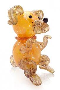 сувенир стеклокрошка Собака h150 мм. Ж.О.К.