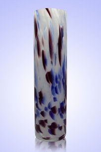 Ваза стеклокрошка Цилиндр d80.h300 мм. Б.С.М.