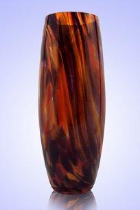 Ваза стеклокрошка Бочка h260 мм. Кр.М.