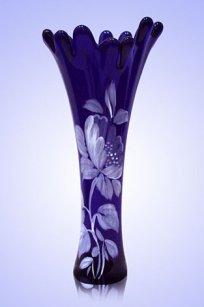 Ваза синяя Коралл h280 мм. рис. № 16