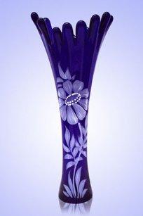 Ваза синяя Коралл h280 мм. рис. № 8