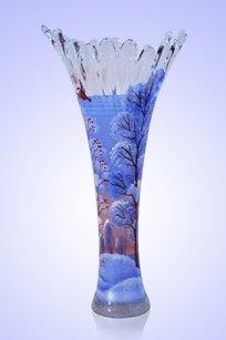 Ваза прозрачная Коралл h280 мм. рис. Зима