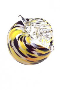 Сувенир стеклокрошка Яблоко h90 мм. Ж.О.К.
