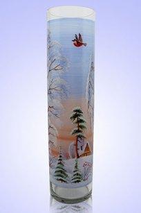 Ваза прозрачная Цилиндр d100.h400 мм. рис. Зима