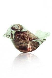 Сувенир стеклокрошка Птичка L100 h60 мм. Марг.