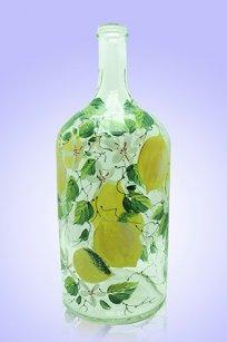 Бутыль прозрачная 2л. d120.h300 мм. рис. Лимон