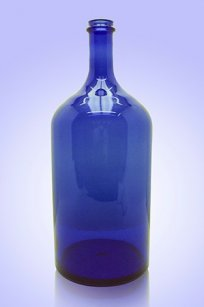 Бутыль синяя 2л. d120.h300 мм.