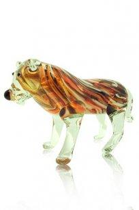 сувенир стеклокрошка Тигр h120 мм Кр-Б-М